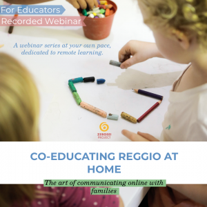 Co-Educating Reggio at Home – Recorded Series